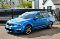 USED 2016 66 SKODA OCTAVIA 2.0 VRS TDI DSG 5d AUTO 184 RACE BLUE FSSH BALANCE OF SKODA WARRANTY