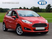 USED 2014 14 FORD FIESTA 1.2 ZETEC 5d 81 BHP A 2014 Ford Fiesta 1.25 Zetec 5dr in bright red with just 36750 miles.