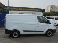 2014 FORD TRANSIT CUSTOM 2.2 290 LR P/V  125 BHP SHORT WHEEL BASE FITTED WITH REAR DOOR CHUBB LOCK AND SIDE DOOR SECURITY DOUBLE LOCKS  ONE COMPANY OWNER VAN VERY CLEAN   £7350.00