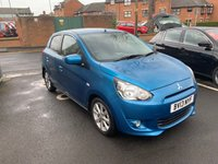 USED 2013 13 MITSUBISHI MIRAGE 1.2 3 5d 79 BHP ONLY 6623 MILES!!..VERY CHEAP TO RUN, LOW CO2 EMISSIONS, £0 ROAD TAX AND EXCELLENT FUEL ECONOMY!  WITH AUXILIARY INPUT AND USB, FULL SERVICE HISTORY, ALLOY WHEELS, REAR PARKING SENSORS, CLIMATE CONTROL