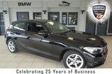 USED 2015 65 BMW 1 SERIES 1.5 118I SE 3d 134 BHP FINISHED IN STUNNING BLACK WITH ANTHRACITE CLOTH SEATS + FULL BMW SERVICE HISTORY + SATELLITE NAVIGATION + DAB RADIO + £30 ROAD TAX + BLUETOOTH + 16 INCH ALLOYS + AIR CONDITIONING