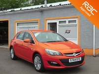 """USED 2014 14 VAUXHALL ASTRA EXCITE 1.4i 16V 5DR 17"""" Alloys, Bluetooth, Parking Sensors, Front Fogs"""