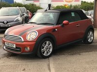 USED 2012 61 MINI CONVERTIBLE 1.6 COOPER 2d 122 BHP