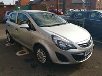 USED 2014 14 VAUXHALL CORSA 1.2 S AC 5d 83 BHP 14782 MILES FROM NEW. LOW CO2 EMISSIONS, LOW INSURANCE GROUP, GOOD SPEC INCLUDING AIR CONDITIONING, AUXILIARY INPUT, ELECTRIC FRONT WINDOWS, REMOTE LOCKING. MEETS EMISSION STANDARDS INCLUDING THOSE FOR LARGE CITIES.
