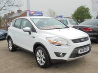 USED 2011 61 FORD KUGA 2.0 ZETEC TDCI 4WD 5d 138 BHP *1 OWNER *FROZEN WHITE* STUNNING*