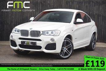 2014 BMW X4 3.0 XDRIVE30D M SPORT 4d AUTO 255 BHP £22999.00