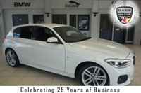 USED 2016 16 BMW 1 SERIES 1.5 118I M SPORT 5d 134 BHP FINISHED IN STUNNING ALPINE WHITE WITH ANTHRACITE CLOTH SEATS + FULL BMW SERVICE HISTORY + SATELLITE NAVIGATION + LED HEADLIGHTS + 1 OWNER + DAB RADIO + BLUETOOTH + 18 INCH ALLOYS + AIR CONDITIONING