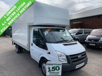 USED 2012 62 FORD TRANSIT 62 REG TWIN WHEEL 125 BHP 4.1 METRE LUTON FULL SERVICE HISTORY  1 OWNER 1 OWNER, FULL SERVICE HISTORY, 6 MONTHS RAC WARRANTY