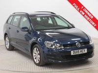 USED 2015 15 VOLKSWAGEN GOLF 1.4 SE TSI BLUEMOTION TECHNOLOGY DSG 5d AUTO 120 BHP 1 Owner, Full VW Service History this is a stunning VW Golf SE AUTO Estate in metallic Midnight Blue and comes with a great spec including Adaptive Cruise Control, Bluetooth, Air Conditioning, Auto Headlights, DAB Radio and four different driving Modes; ECO, Normal, Sport and Individual, Alloys, only £30 a year Road Fund Licence and an MOT until 17th January 2020. Nationwide Delivery Available. Finance Available at 9.9% APR representative.