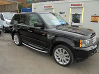 2007 LAND ROVER RANGE ROVER SPORT HSE AUTOMATIC SPORTS  DIESEL  V6 2.7 TURBO  AIR CON HARMAN KARDEN 8 SPEAKER CD  CREAM LEATHER SPOTLESS TRIM  HEATED SEATS  MEMORY  PACK   TOW BAR CLIP OFF  FULL HISTORY  SPARE REMOTE ALSO  £6500.00