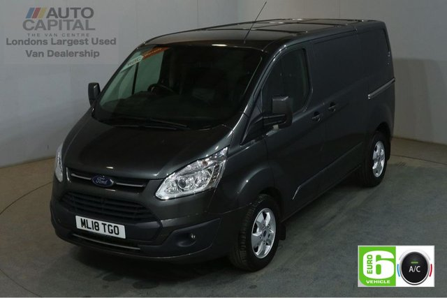 2018 18 FORD TRANSIT CUSTOM 2.0 290 LIMITED AUTO 130 BHP SWB L1H1 EURO 6 SAT NAV AIR CON CRUISE BLUETOOTH, REVERSE CAMERA