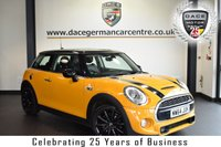 "USED 2015 64 MINI HATCH COOPER 2.0 COOPER SD 3DR 168 BHP full service history FINISHED IN STUNNING VOLCANIC ORANGE WITH LEATHER INTERIOR + FULL SERVICE HISTORY + PRO SATELLITE NAVIGATION + BLUETOOTH + HEATED SPORT SEATS + DAB RADIO + MINI EXCITEMENT PACK + CRUISE CONTROL + LIGHT PACKAGE + LED HEADLIGHTS + RAIN SENSORS + 17"" ALLOY WHEELS"