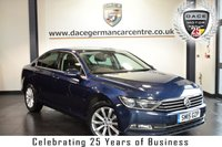 """USED 2015 15 VOLKSWAGEN PASSAT 2.0 SE BUSINESS TDI BLUEMOTION TECHNOLOGY 4DR 148 BHP full vw service history FINISHED IN STUNNING BLUE WITH CLOTH UPHOLSTERY + FULL VW SERVICE HISTORY + SATELLITE NAVIGATION + BLUETOOTH + DAB RADIO + CRUISE CONTROL + HEATED MIRRORS + 17"""" ALLOY WHEELS"""