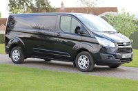 USED 2015 FORD TRANSIT CUSTOM 2.2 290 LIMITED LR P/V 1d 124 BHP One owner - Limited - Long wheel base - Black -