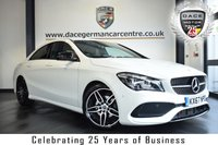 "USED 2017 67 MERCEDES-BENZ CLA 2.1 CLA 200 D AMG LINE 4DR AUTO 134 BHP full service history FINISHED IN STUNNING POLAR WHITE WITH HALF BLACK LEATHER INTERIOR + FULL SERVICE HISTORY + SATELLITE NAVIGATION + BLUETOOTH + CRUISE CONTROL + CLIMATE CONTROL + RAIN SENSORS + PARKING SENSORS + 18"" ALLOY WHEELS"