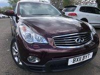 2011 INFINITI EX 3.0 EX30D 5d AUTO 235 BHP £9490.00