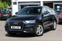 USED 2012 12 AUDI Q3 2.0 TDI 140PS S-LINE FINANCE AVAILABLE * PX WELCOMED * FSH * XENON HEADLAMPS WITH LED DRL'S *