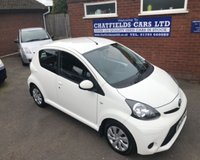 USED 2013 13 TOYOTA AYGO 1.0 VVT-I ICE 5d 68 BHP £0 ROAD TAX,ONLY 20500 MILES