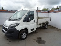 USED 2015 65 PEUGEOT BOXER 2.2 HDI 335 L2 C/C 1d 130 BHP PEUGEOT BOXER L2 TIPPER LOW MILES PRICED TO SELL !!!!!