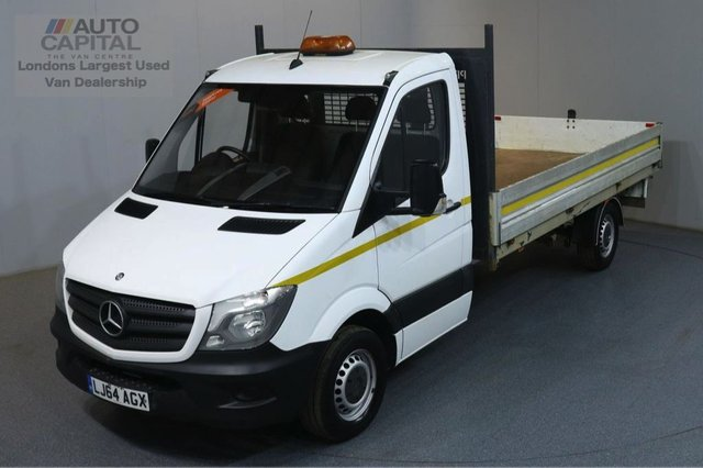 2014 64 MERCEDES-BENZ SPRINTER 2.1 313 CDI 129 BHP LWB RWD DROPSIDE LORRY REAR BED LENGTH 13 FOOT 6 INCH