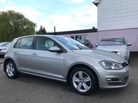 USED 2015 15 VOLKSWAGEN GOLF 1.6 TDI MATCH BLUEMOTION TECHNOLOGY 5d WITH FULL VW SERVICE HISTORY NO DEPOSIT ECP/PCP/HP FINANCE ARRANGED, APPLY HERE NOW