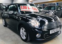 2012 MINI CONVERTIBLE 1.6 ONE 2 DOOR CONVERTIBLE WITH LOW MILES AND FSH £5995.00