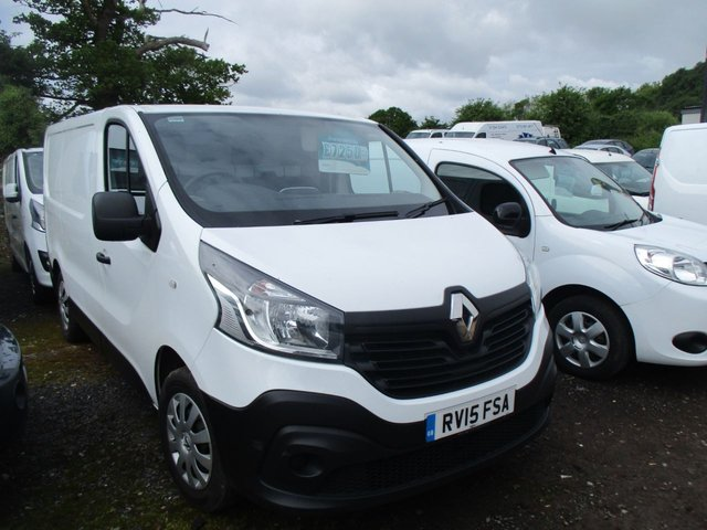 2015 15 RENAULT TRAFIC 1.6 TURBO DIESEL DCI 115 BHP VAN SL27 BUSINESS  L1 H1 MANUAL WHITE