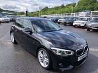 USED 2015 65 BMW 1 SERIES 1.5 118I M SPORT 5d 134 BHP Metallic Black, Suede M-Sports interior, Sat Nav, Bluetooth & Media. Only 25,000 miles