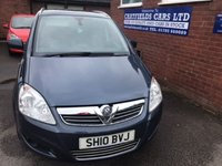 USED 2010 10 VAUXHALL ZAFIRA 1.6 DESIGN 5d 113 BHP 7 SEATER SEATS, 71K MILES