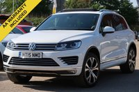 USED 2015 15 VOLKSWAGEN TOUAREG 3.0 V6 R-LINE TDI BLUEMOTION TECHNOLOGY 5d AUTO 259 BHP FREE 6 MONTHS AA WARRANTY INCLUDED FACTORY FITTED TOWBAR