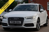 USED 2016 16 AUDI A3 1.4 SPORTBACK E-TRON 5d AUTO 101 BHP FULL MAIN DEALER HISTORY, SATELLITE NAVIGATION