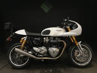 USED 2017 17 TRIUMPH THRUXTON 1200 R 2017. FSH. 4495 MILES. FRONT COWL. V&H PIPES. TAIL PACK