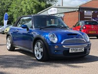 USED 2008 08 MINI CONVERTIBLE 1.6 COOPER S 2d 168 BHP PARKING AID *  HALF LEATHER *  17 INCH  ALLOYS *  SERVICE RECORD *  FULL YEAR MOT *