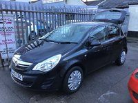 USED 2012 61 VAUXHALL CORSA 1.2 EXCLUSIV AC 5d 83 BHP Black, 5 door, air/con, must be seen. Superb,