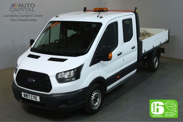 2017 17 FORD TRANSIT 2.0 350 L3 129 BHP LWB D/CAB 7 SEATER EURO 6 MANUAL TIPPER REAR BED LENGTH 9 FOOT 4 INCH