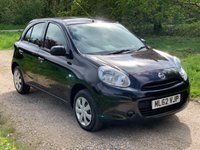 USED 2012 62 NISSAN MICRA 1.2 VISIA 5d 79 BHP F/S/H, Low Mileage, A/C