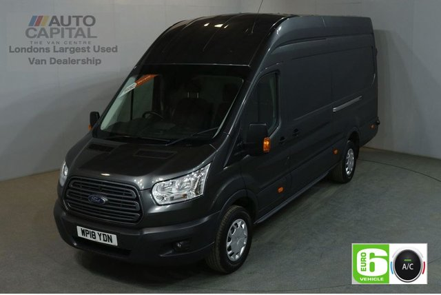2018 18 FORD TRANSIT 2.0 350 L4 H3 130 BHP TREND EXTRA LWB JUMBO EURO 6 AIR CON VAN AIR CONDITIONING EURO 6 TREND