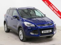 USED 2015 15 FORD KUGA 2.0 TITANIUM TDCI 5d AUTO 177 BHP 4x4 AWD Stunning Ford Kuga Titanium 2.0 AUTO, 4x4 AWD. Just 1 Previous Owner, Full Ford Service History, Half Leather, Privacy Glass, Front & Rear Parking Sensors, Roof Rails, Cruise Control, Bluetooth, Air Conditioning, Leather Multi Function Steering Wheel, Alloy Wheels, 2 Keys, in beautiful metallic deep impact blue and comes with a free warranty. Nationwide Delivery Available. Finance Available at 9.9% APR Representative.