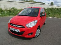 USED 2012 62 HYUNDAI I10 1.2 CLASSIC 5d 85 BHP LOW RUNNING COSTS!!