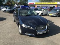USED 2013 63 JAGUAR XF 2.2 D PREMIUM LUXURY SPORTBRAKE 5d AUTO 200 BHP BLUE 70K MILES ESTATE GREAT CONDITION APPROVED CARS AND FINANCE ARE PLEASED TO OFFER OUR JAGUAR XF 2.2 D PREMIUM LUXURY SPORTBRAKE 5 DOORS AUTO 200 BHP IN BLUE. HUGE SPEC INCLUDING AIR CON,ALLOY WHEELS,ELECTRIC SEATS,SAT NAV,FULL LEATHER,METALLIC PAINT AND MUCH MORE WITH A MAIN DEALER JAGUAR SERVICE HISTORY PRINTOUT . PLEASE CALL 01622-871-555 TO BOOK A TEST DRIVE TODAY.