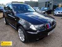 USED 2010 59 BMW X3 2.0 XDRIVE20D M SPORT 5d AUTO 175 BHP SERVICE HISTORY (SOME BMW) LEATHER TRIM M SPORT MODEL