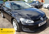 USED 2015 15 VOLKSWAGEN GOLF 1.6 MATCH TDI BLUEMOTION TECHNOLOGY DSG 5d AUTO 109 BHP VW SERVICE HISTORY BLUETOOTH PARK DISTANCE CONTROL