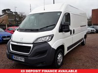 USED 2015 65 PEUGEOT BOXER 2.2 HDI 335 L3H2 P/V 1d 130 BHP FULL SERVICE HISTORY,DAB,MOT,SERVICE,WARRANTY INCLUDED