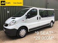 2014 VAUXHALL VIVARO 9 Seat Minibus LWB 2.0 CDTI 113 BHP *29,000 MILES*