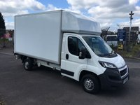 USED 2016 16 PEUGEOT BOXER 335 L3 2.2 HDI LWB LUTON WITH TAIL LIFT