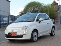 USED 2012 12 FIAT 500 1.2 LOUNGE 3d  £30 TAX~PANORAMIC ROOF~BLUE&ME ~ AIR CON ~ SERVICE HISTORY ~ ALLOYS