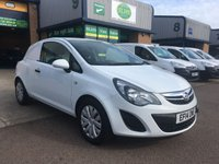 USED 2014 14 VAUXHALL CORSA 1.2 CDTI ECOFLEX S/S 1d 93 BHP FSH, A/C, P/SENSORS, SPARE KEY, 6 MONTHS WARRANTY & FINANCE ARRANGED. Full service history (2 main dealer stamps), only 49,000 miles, A/C, parking sensors, Radio/CD, Drivers airbag, WHITE, Very Good Condition, 1 Owner, remote Central Locking, Drivers Airbag, CD Player/FM Radio, Steering Column Radio Control, tailgate, finance arranged on site & 6 months premium Autgaurd warranty on every van.