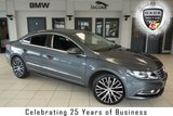 USED 2013 13 VOLKSWAGEN CC 2.0 GT TDI BLUEMOTION TECHNOLOGY DSG 4d AUTO 168 BHP FINISHED IN STUNNING GREY WITH FULL BLACK LEATHER SEATS + FULL SERVICE HISTORY + SATELLITE NAVIGATION + BLUETOOTH + 18 INCH ALLOYS + CRUISE CONTROL + HEATED FRONT SEATS + AIR CONDITIONING