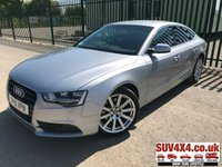 USED 2015 15 AUDI A5 2.0 SPORTBACK TDI SE TECHNIK 5d 134 BHP SAT NAV LEATHER ONE OWNER SATELLITE NAVIGATION. STUNNING SILVER MET WITH FULL BLACK LEATHER TRIM. HEATED SEATS. CRUISE CONTROL. 18 INCH ALLOYS. COLOUR CODED TRIMS. PRIVACY GLASS. PARKING SENSORS. BLUETOOTH PREP. CLIMATE CONTROL WITH AIR CON. ELECTRIC TAILGATE. TRIP COMPUTER. R/CD PLAYER. 6 SPEED MANUAL. MFSW. MOT 03/20. ONE OWNER FROM NEW. SERVICE HISTORY. SUV & 4X4 CAR CENTRE LS23 7FR. TEL 01937 849492. OPTION 2