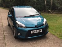 USED 2013 63 TOYOTA YARIS 1.5 T4 HYBRID 5d AUTO 75 BHP HYBRID, AUTOMATIC,  LOW MILEAGE, MANY EXTRAS.FINANCE ME TODAY-UK DELIVERY POSSIBLE